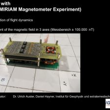 The Magnetic Field Measurement Experiment of the University of Braunschweig