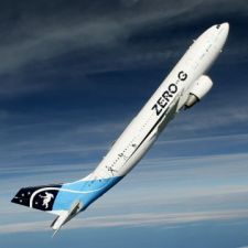 A310 ZERO-G during ascension in parabola