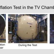 Balloon  Inflation Test-from Preparation to the Inflation under Vacuum Conditions